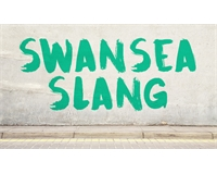 Swansea Slang graffiti on wall