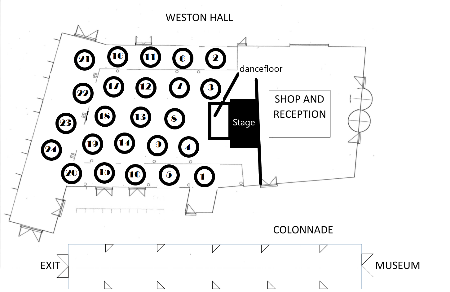 Table Plan for COAH Ball